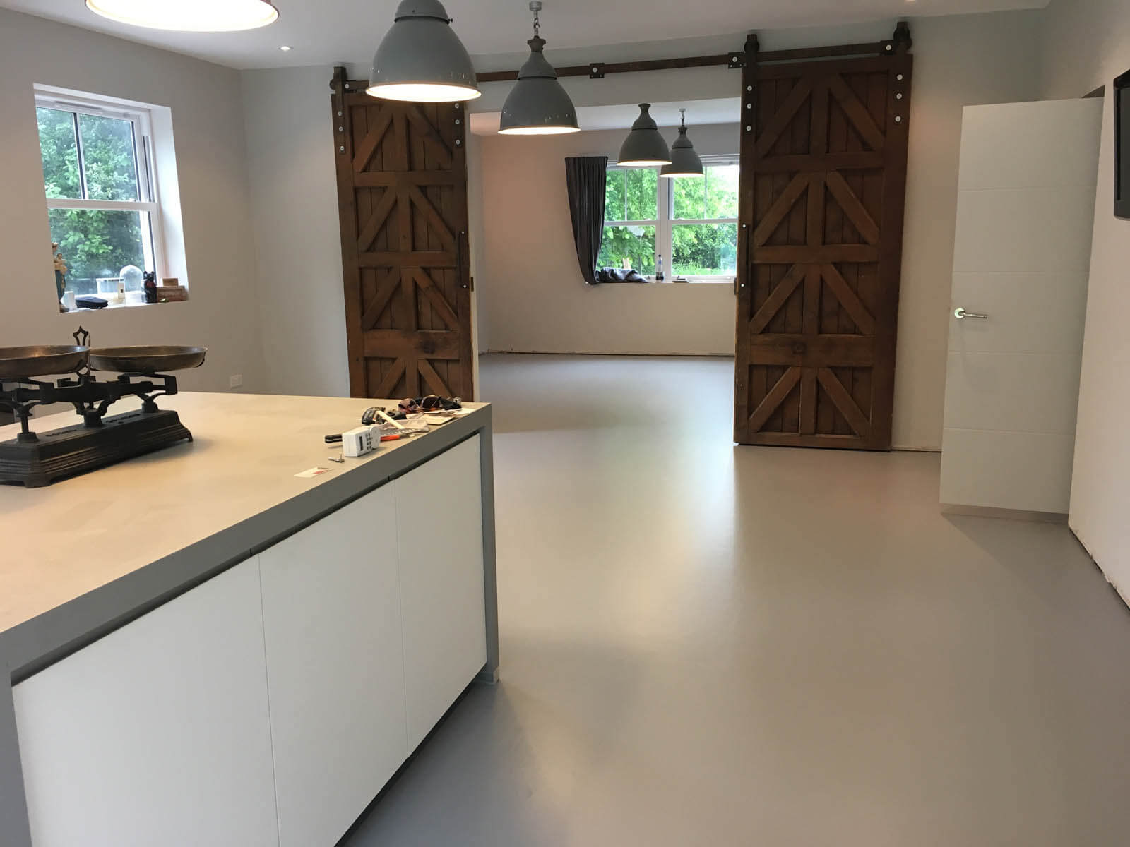 Residential Resin Floor in Rugby Warwickshire - Abstract Flooring Co Group